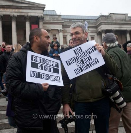 I'm a photographer, not a terrorist demonstration