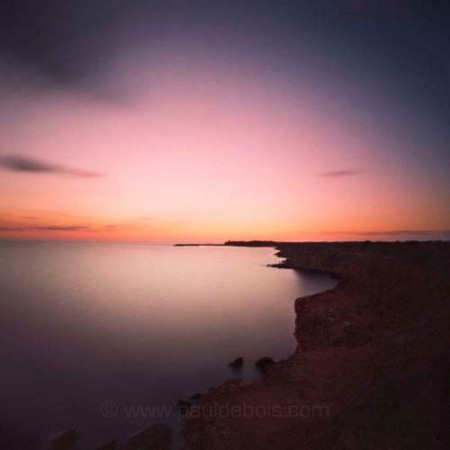 Pinhole Impressions 26 - sunset at Puerto de Conil, in the south of Spain