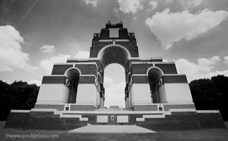 the Somme memorial at Thiepval