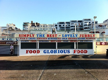 food outlet on Brighton sea front