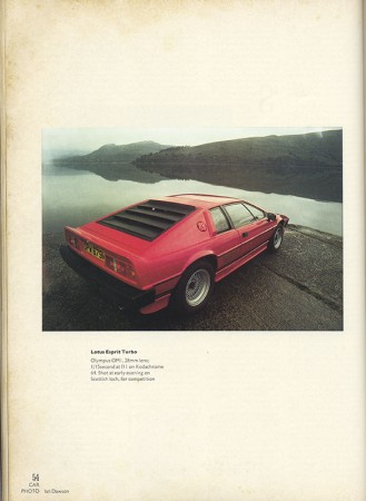Lotus Esprit Turbo, shot on Kodachrome 64 ©Ian Dawson