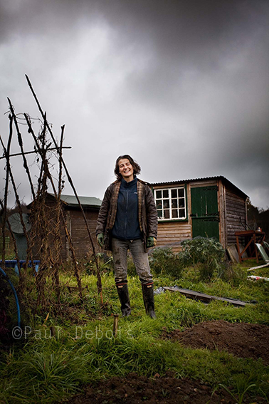 Sally Nex at her allotment