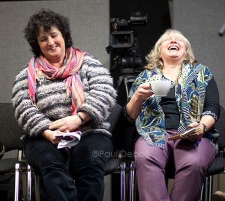 Pippa Greenwood and Anne Swithinbank at the Christmas 2010 Gardeners' Question Time recording