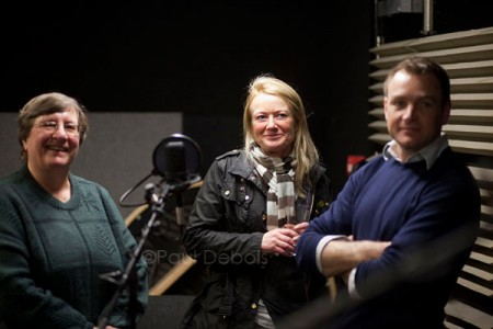 Christine Walkden, Bunny Guinness and Chris Beardshaw at the Christmas 2010 Gardeners' Question Time recording