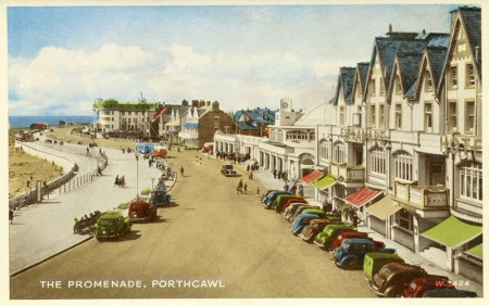 The Promenade, Pawthcawl - colour postcard