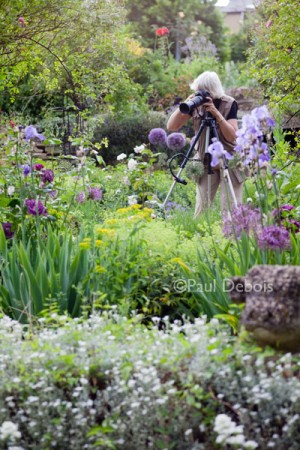 Photography student at Mill Dene gardens