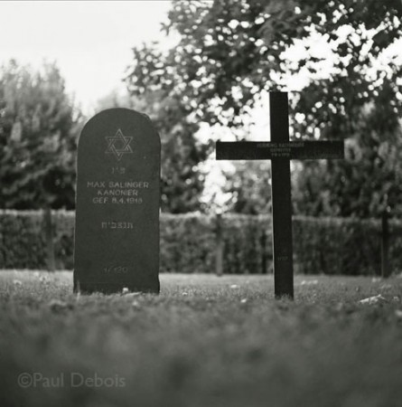Bray Sur Somme, German WW1 war cemetery, Christian and Jewish burial side-by-side