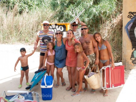 holiday snap on beach at Fuente del Gallo, Conil