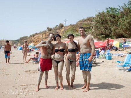 holiday snap on beach at Fuente del Gallo, Conil