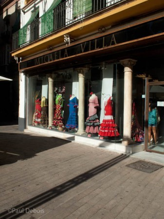 Flamenco dress shop, Sevilla