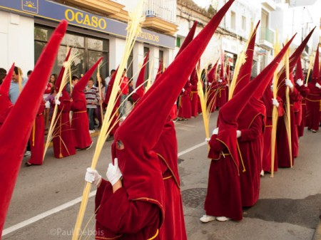 Semana Santa, Conil, Spain. Young Penitentes.