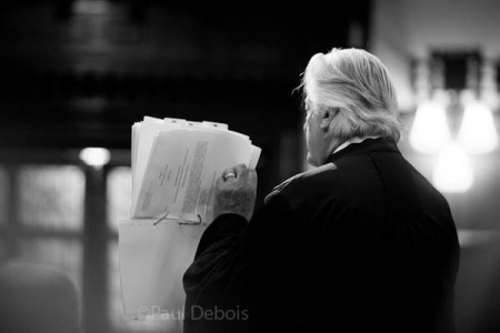 Michael Mansfield QC at Ecocide mock trial at Supreme Court, London, 30-9-11
