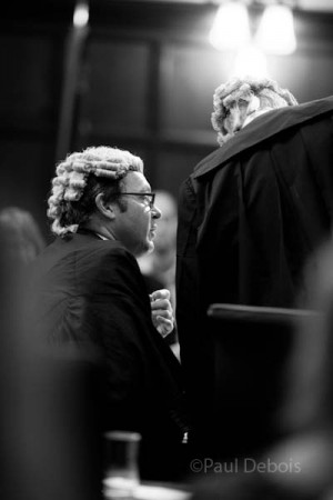 Adam Hiddleston, from 3BP Chambers, at Ecocide mock trial, Supreme Court, London, 30-9-11