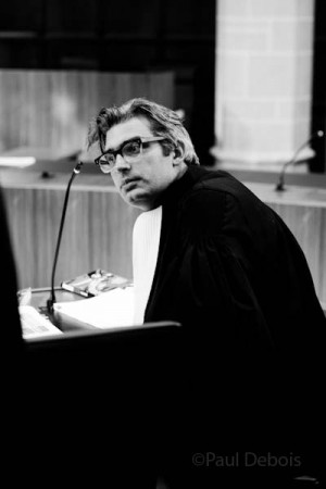 Steven Powles from Doughty Street Chambers, at Ecocide mock trial, Supreme Court, London, 30-9-11