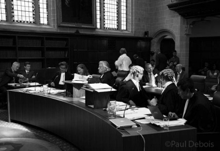 Ecocide mock trial at Supreme Court, London, 30-9-11