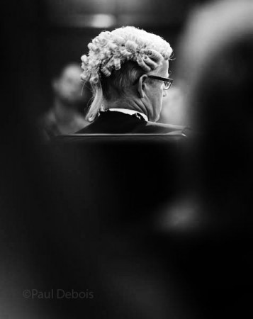 Christopher Parker QC at Ecocide mock trial at Supreme Court, London, 30-9-11