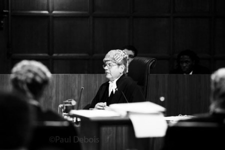 Judge summing up at Ecocide mock trial at Supreme Court, London, 30-9-11