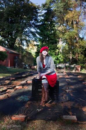 Alice Bowe, garden designer and author, making a start on her new veg plot.