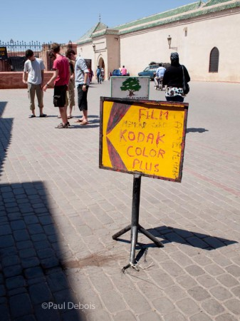 Homemade Kodak sign, Marrakech, Morocco