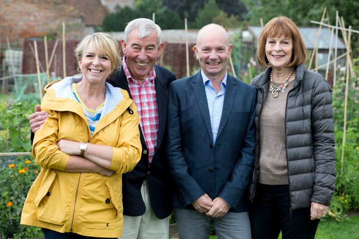 Big Allotment Challenge presenters: Fern Britton, Jim Buttress, Jonathan Moseley and Thane Prince.