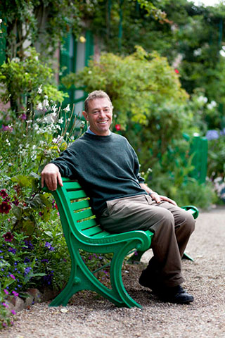James Priest, Chef Jardinier at Monet's  garden, Giverny