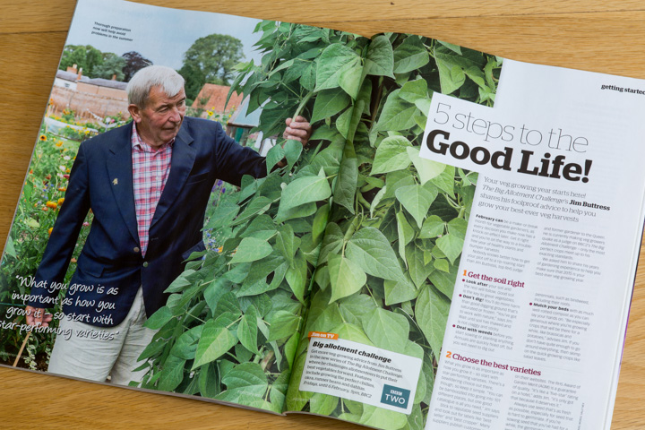 Jim Buttress in the BBC's 'Big Allotment Challenge' Garden