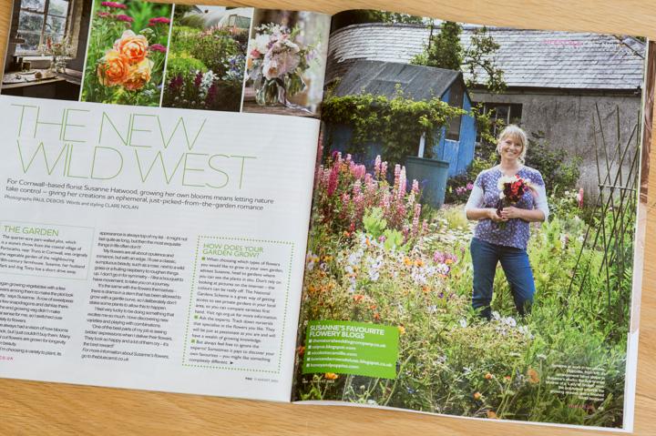 Susanne Hatwood in her cutting garden