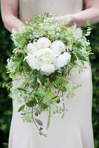 Bridal bouquet from cutting garden