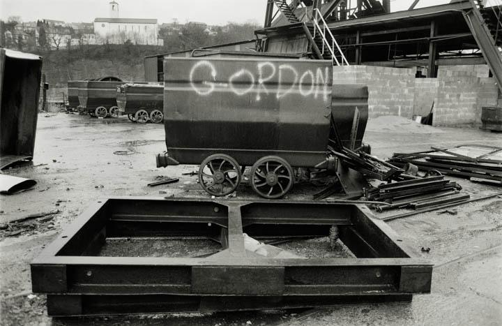 Disused coal mine, Wales, 1986