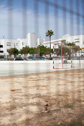 Conil, Spain, Sports area on sea front
