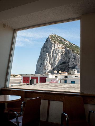 Gibraltar Airport looking towards the Rock