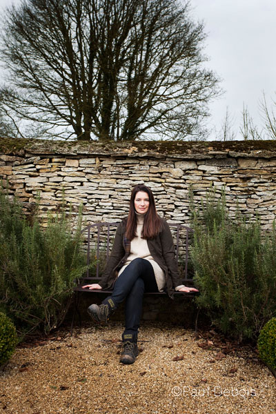 Rachel de Thame in her garden, Oxfordshire