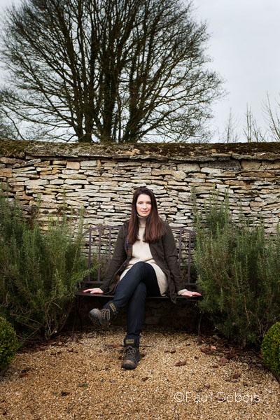 Rachel de Thame in her garden, Oxfordshire