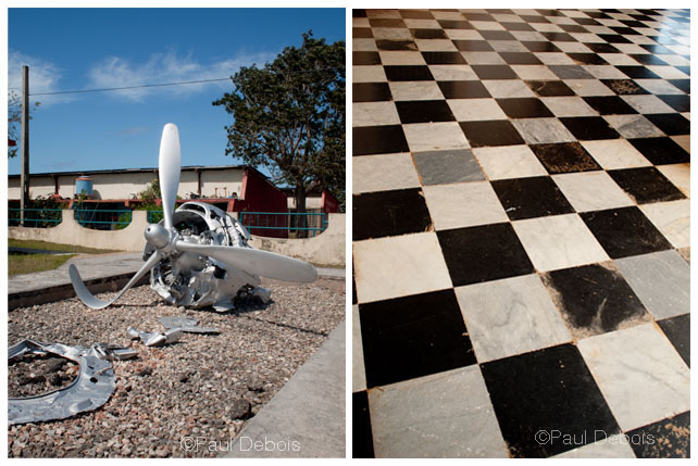 Left: Bay of Pigs museum. Right: Museum, Viales.