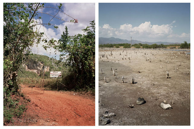 Left: Organic smallholding, Viales. Right: Lagoon, Trinidad