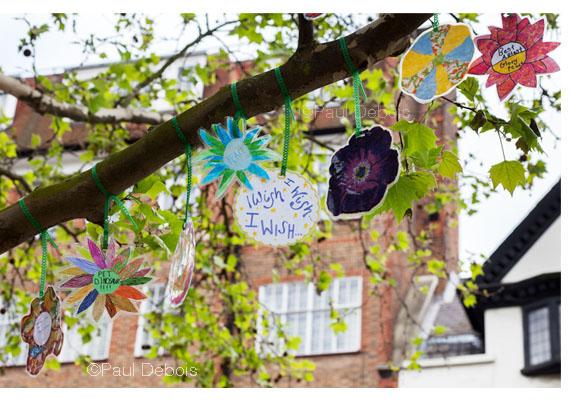 21.5.12, First Chelsea Fringe Festival - Wish Trees of Chelsea, Dovehouse Green, Dovehouse Street, London