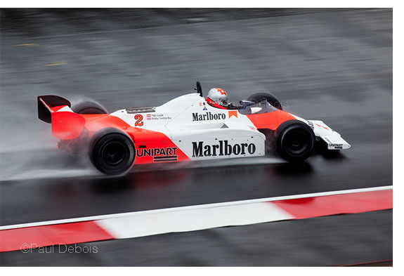 Niki Lauda's McLaren MP4-1B from 1982, driven by Bobby Verdon-Roe