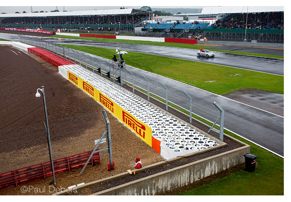 Safety car at beginning of the main straight