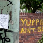 Urban Forest, Elephant and Castle. graffiti and eviction notice