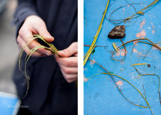 Foraging with Sam Sender -making nettle string
