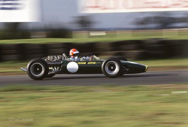 Lotus 49 at Snetterton, driven by Tiff Needell. ©Paul Debois