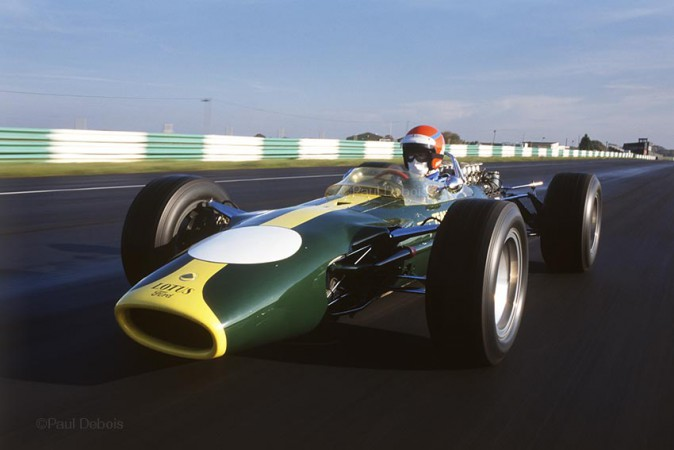 Lotus 49 at Snetterton, driven by Tiff Needell. Paul Debois
