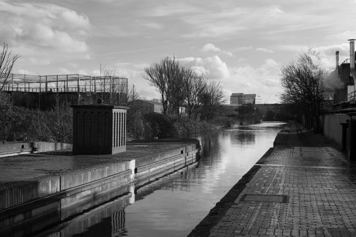 Grand Union Canal crossing the North Circular Road  and the River Brent at Park Royal