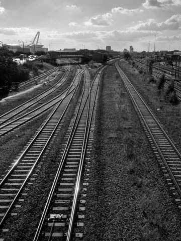 Railway covering River Brent, Wembley