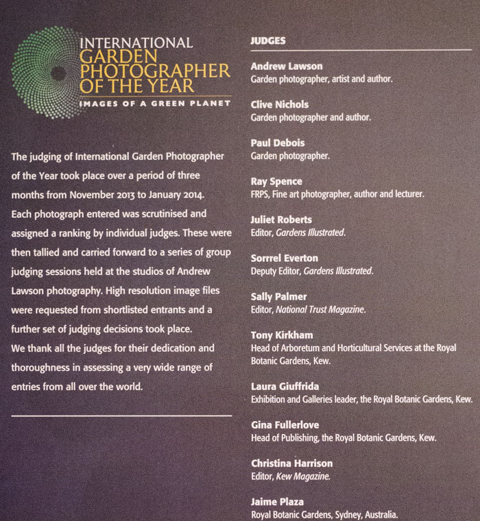 List of Judges, IGPOTY 2014
