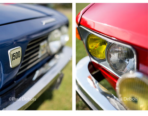 Left: Triumph 1500. Right: VW 412 LS