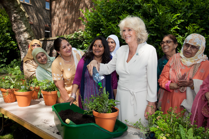 Camilla, Duchess of Cornwall, visiting Geffrye Museum